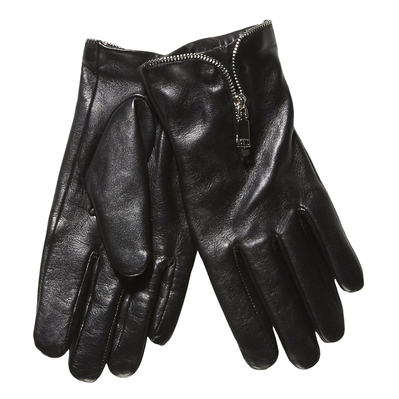 Dámské kožené rukavice se zipem