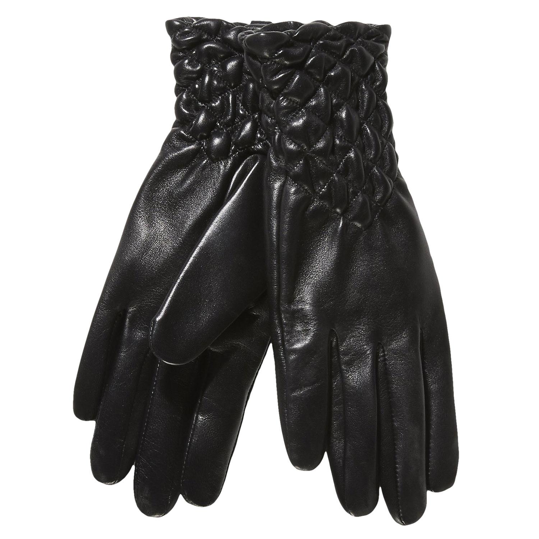 Dámské kožené rukavice s prošíváním
