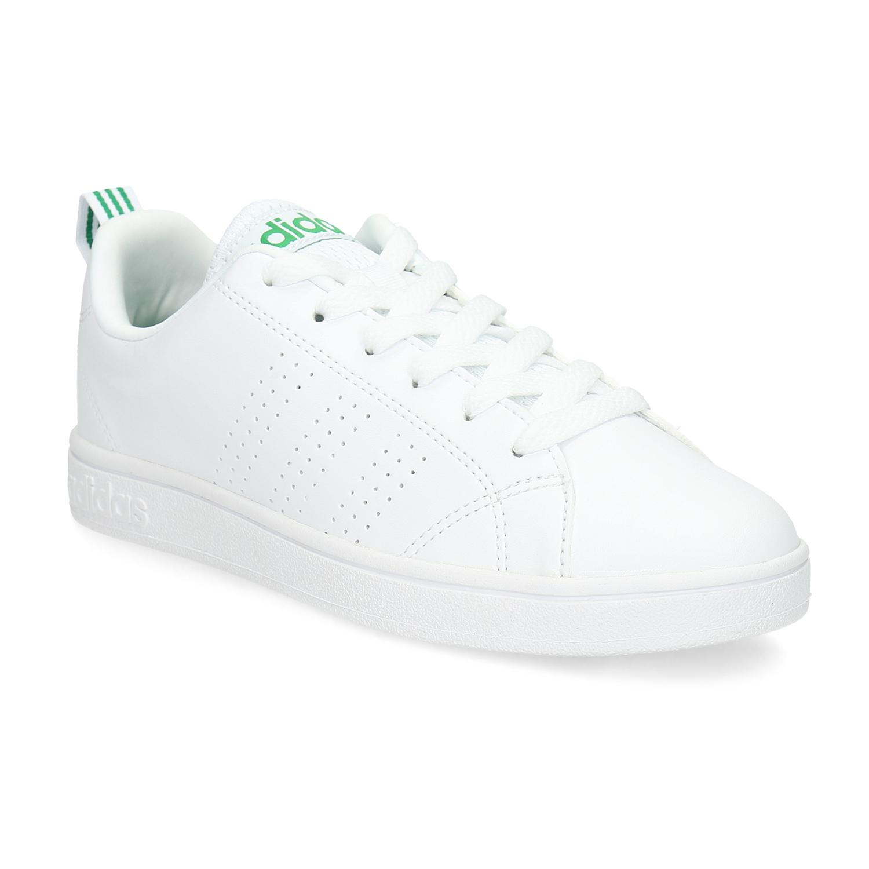 Bílé tenisky se zelenými detaily