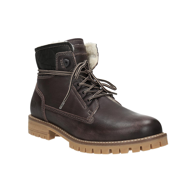 Dámska kožená zimná obuv