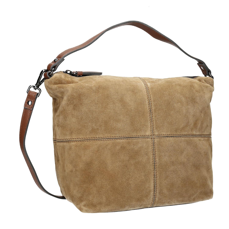 Kožená kabelka s prešitím