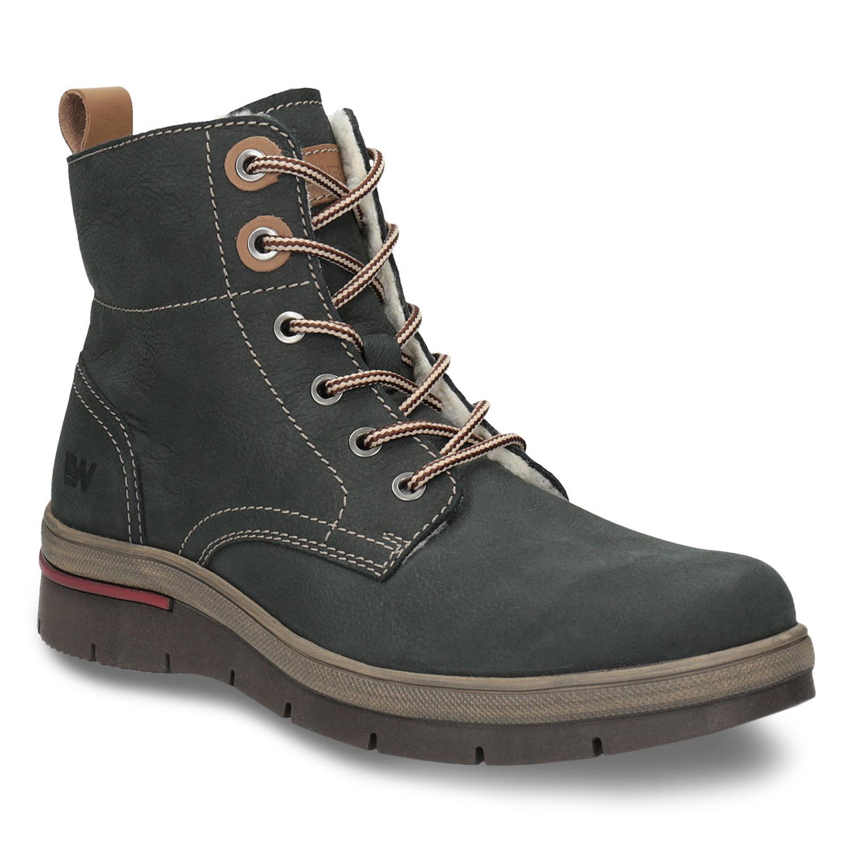 Kožená dámská zimní obuv 5cc00d4ed4