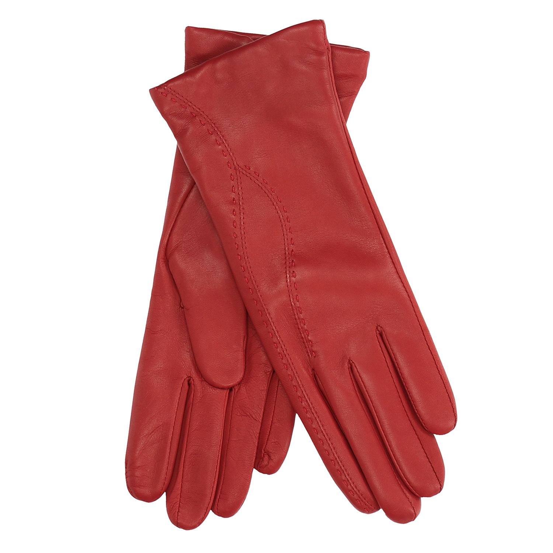 Dámské kožené rukavice fialové