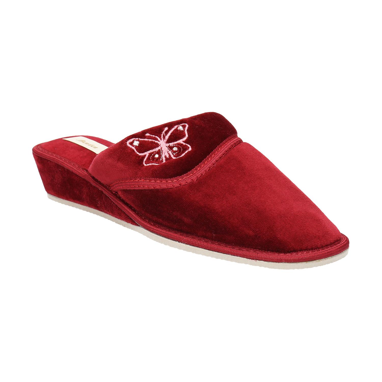 Dámská domácí obuv na klínovém podpatku