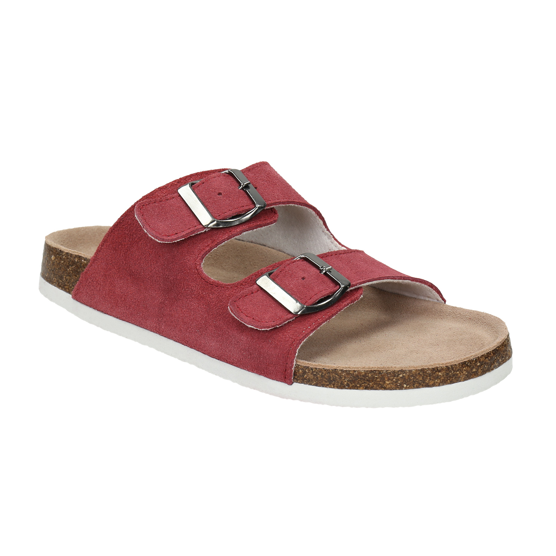 Kožené dámske papuče