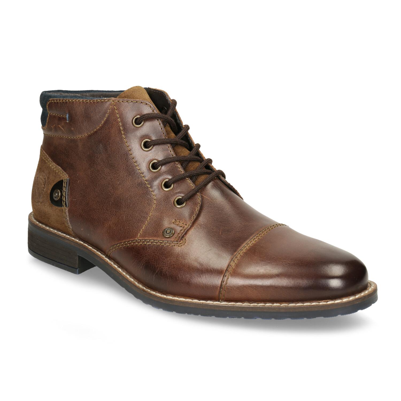 Pánska kožená členková obuv