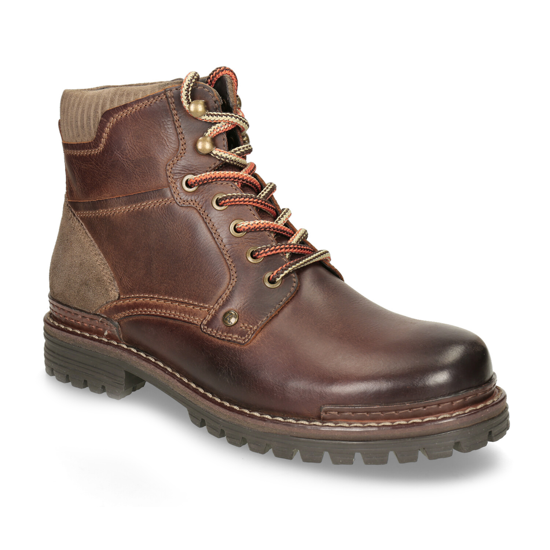 Kožená členková zimná obuv