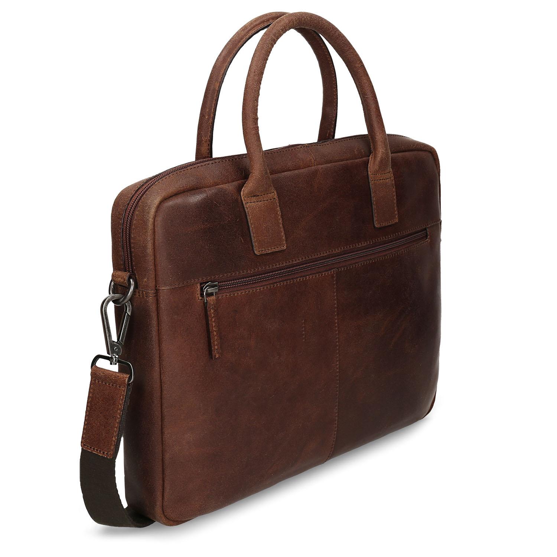 Kožená pánska taška s prešívaním
