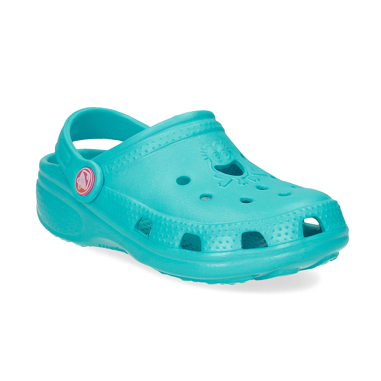 Tyrkysové dětské sandály Clogs