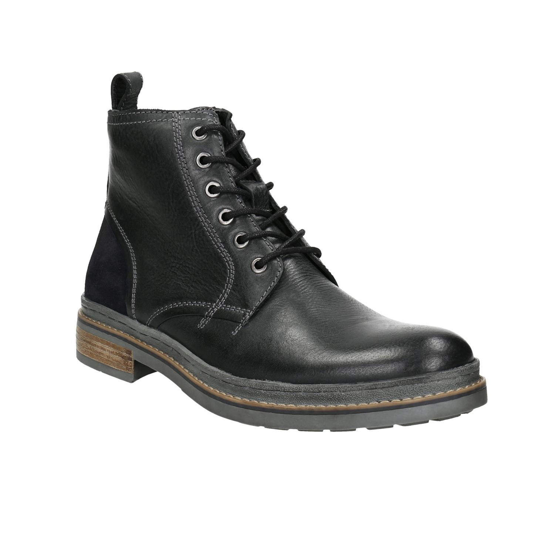 Kožená kotníčková obuv zimní 8552be062b