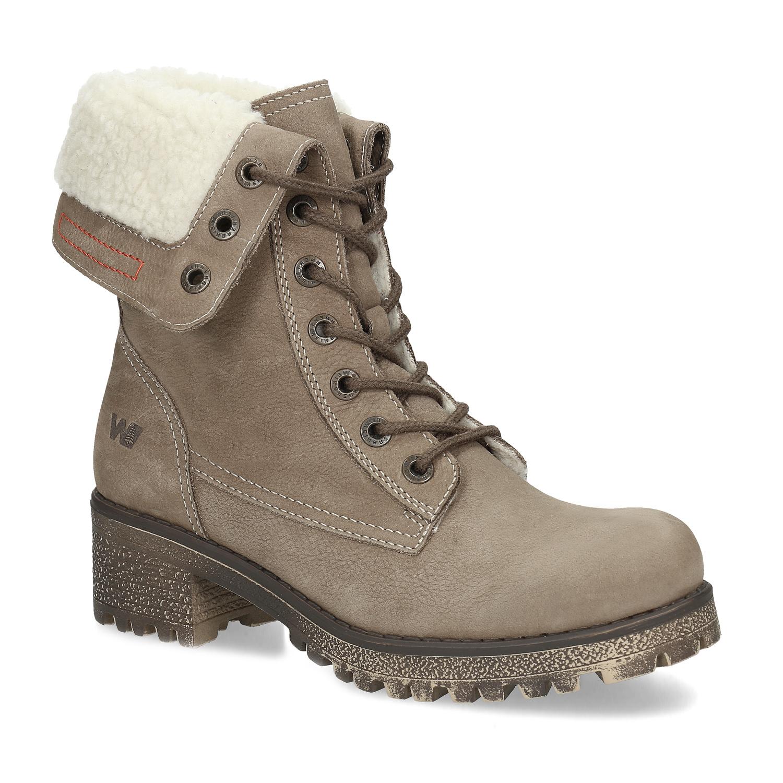 Kožená dámská zimní obuv