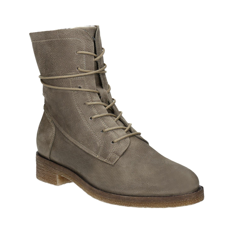Dámské kožené šněrovací boty c7f60113f9