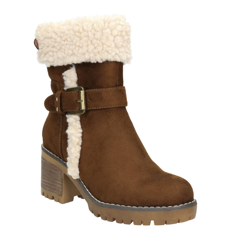 Dámská zimní obuv s přezkou