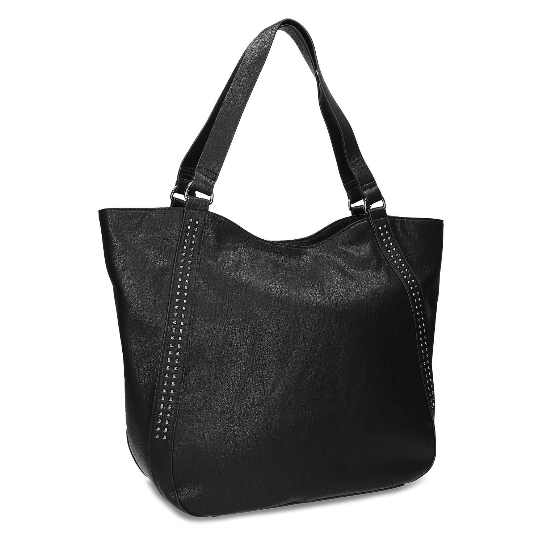 Černá dámská kabelka s prošitím