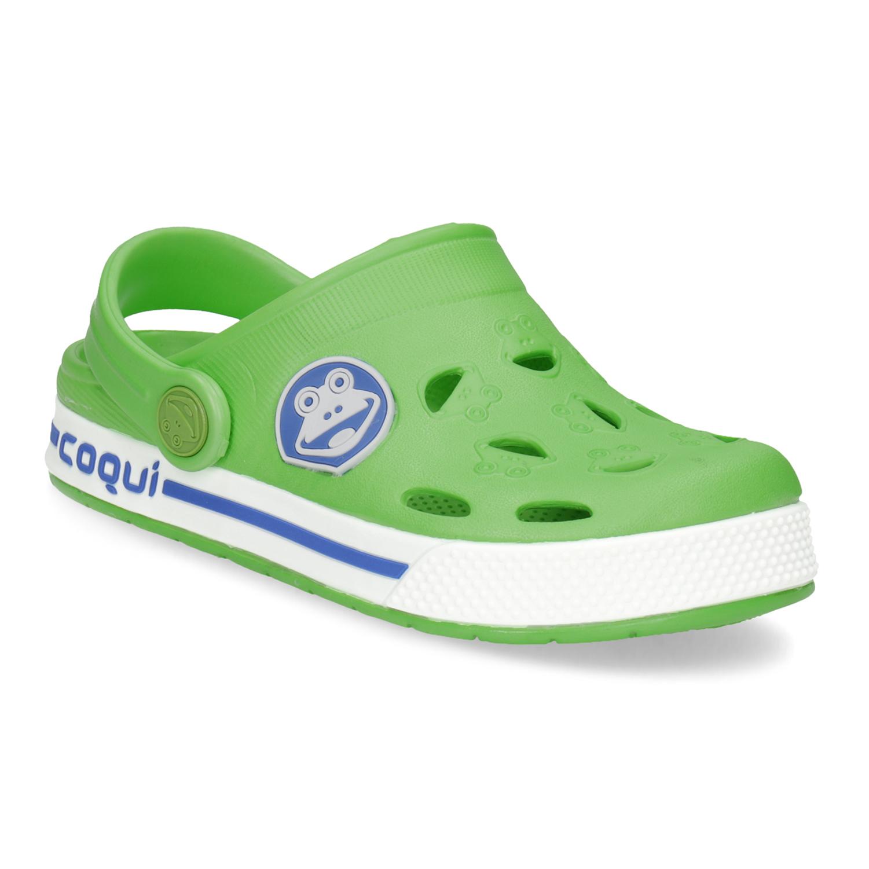 Dětské zelené sandály s žabkou 4a13de8383