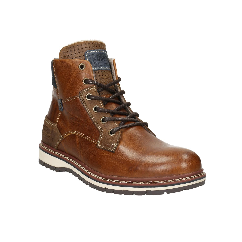 Pánska kožená zimná obuv