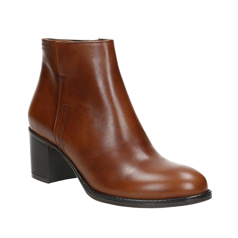 Kotníčková obuv na stabilním podpatku
