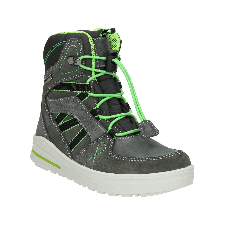 Kožené detské zimné topánky