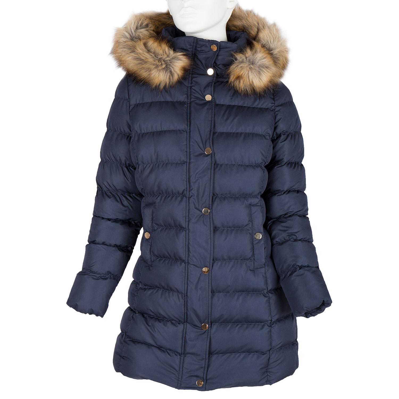 Dámská zimní bunda s kožíškem