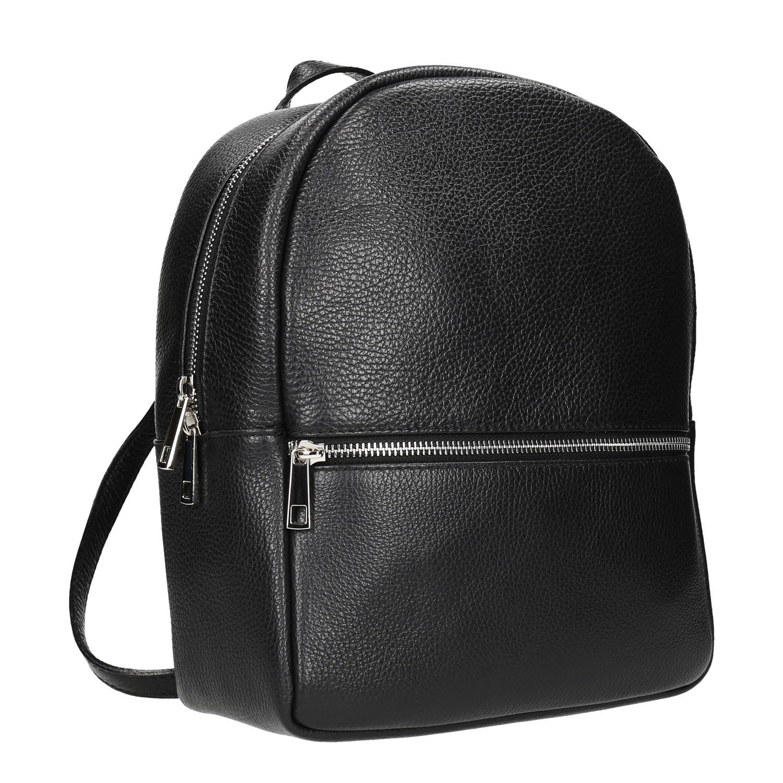 Kožený čierny batoh