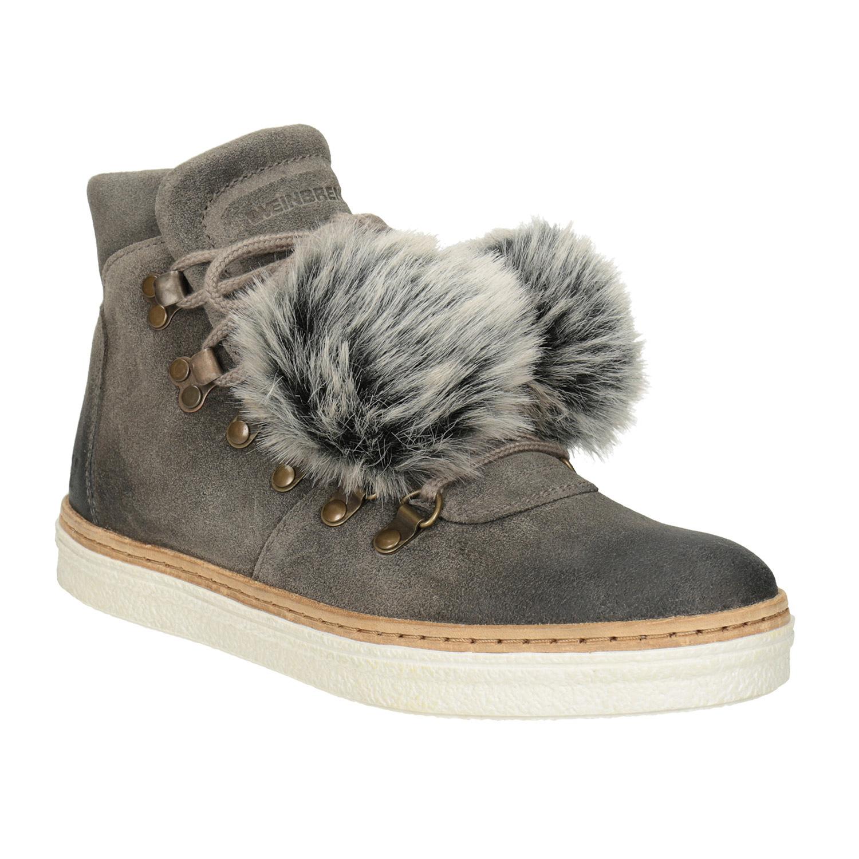 Dámská zimní obuv se šněrováním