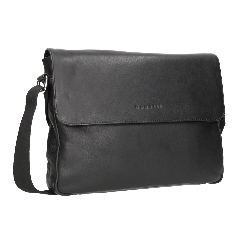 Čierna kožená Crossbody taška