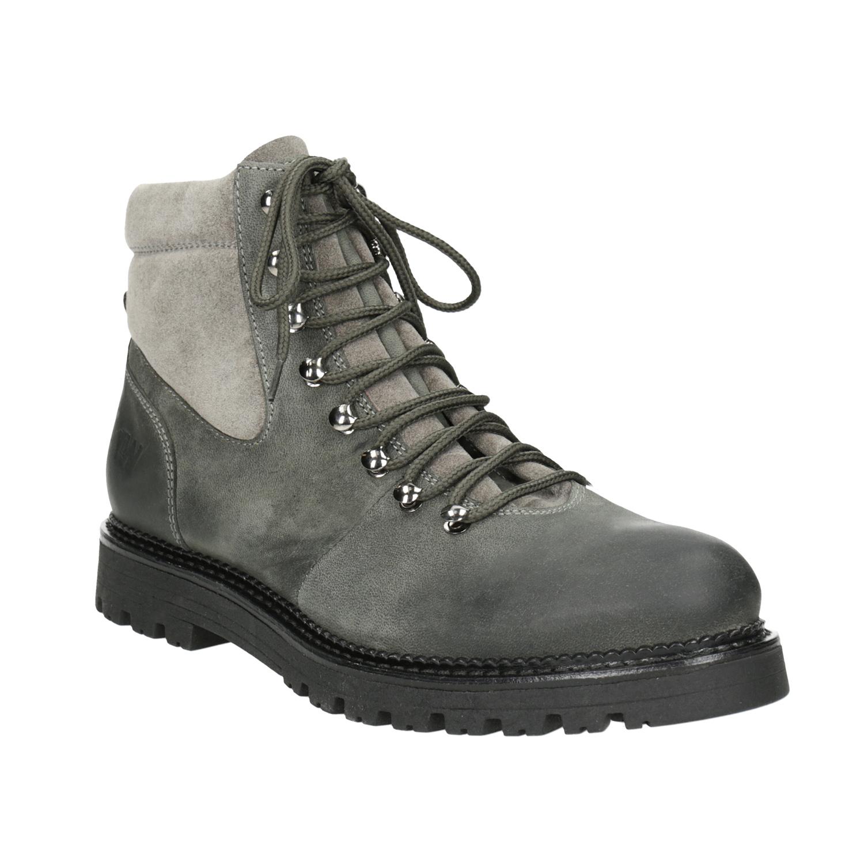 Členková dámska kožená obuv
