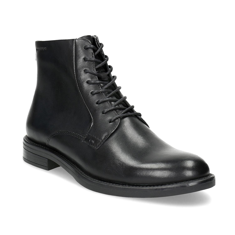 Kožená kotníčková dámská obuv
