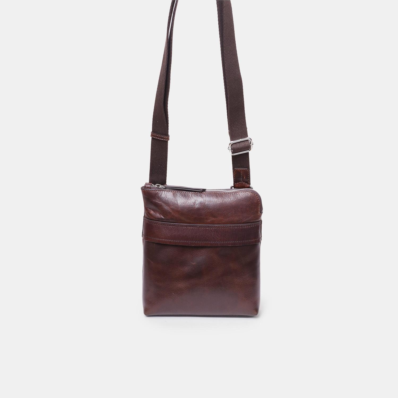036d0066bc Hnedá kožená Crossbody taška