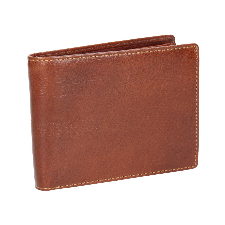 Hnedá kožená pánska peňaženka