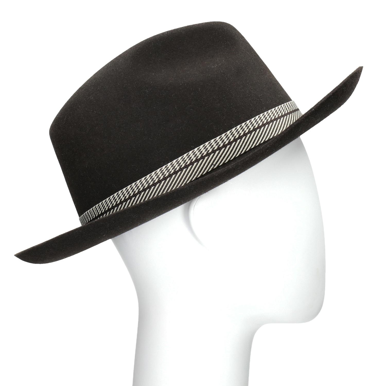 Tmavě hnědý pánský klobouk