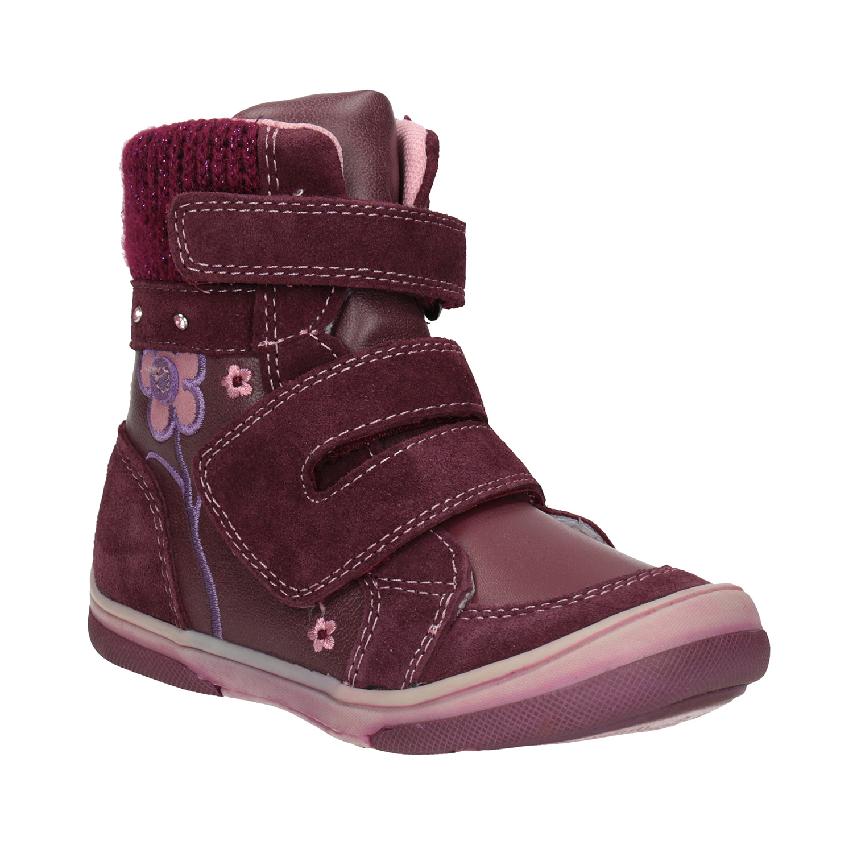 Kožená dětská zimní obuv