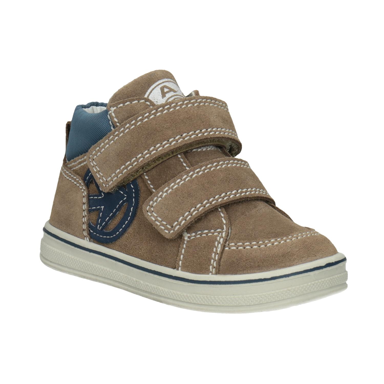 Dětská kotníčková kožená obuv