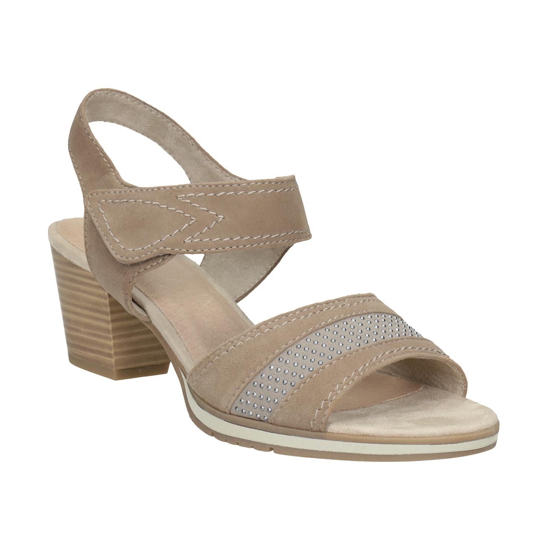 Kožené sandály šíře H s kamínky