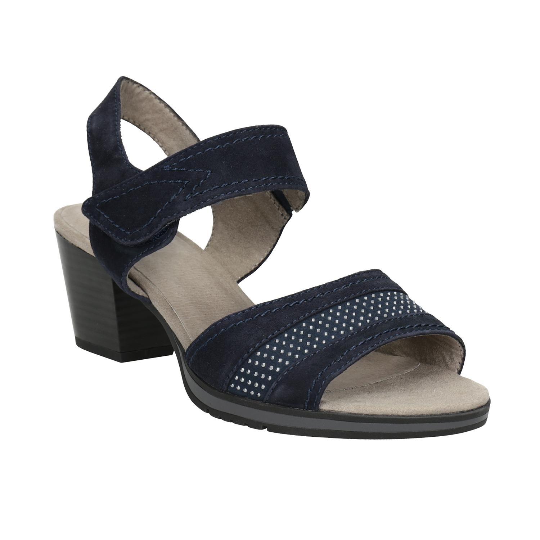 Modré kožené sandály šíře H