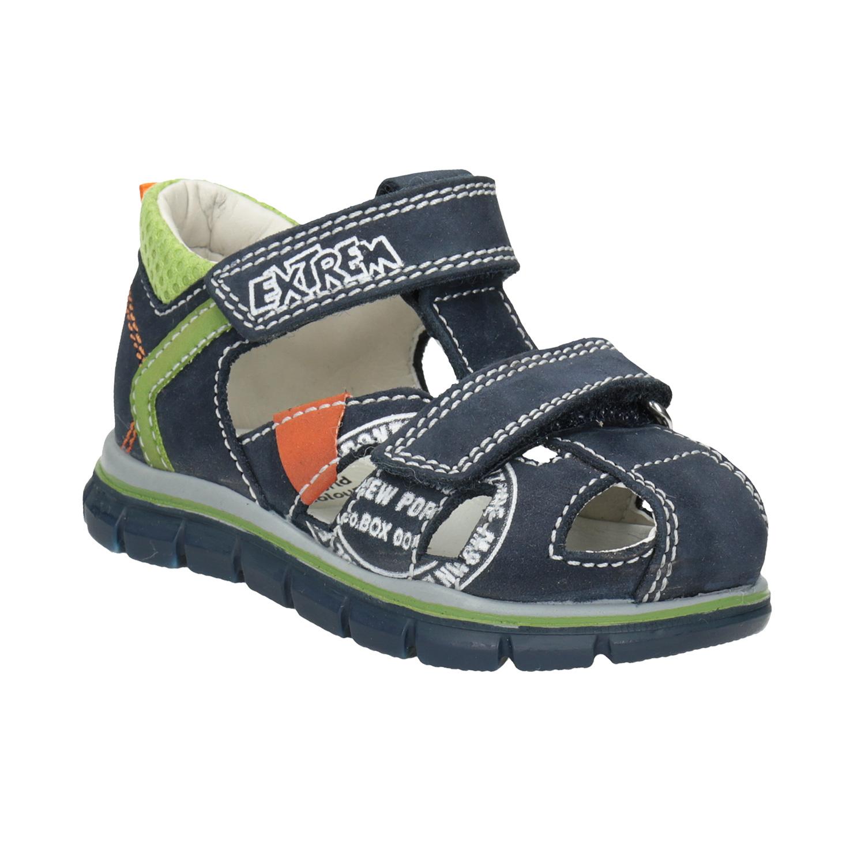 Chlapecké kožené sandály s potiskem