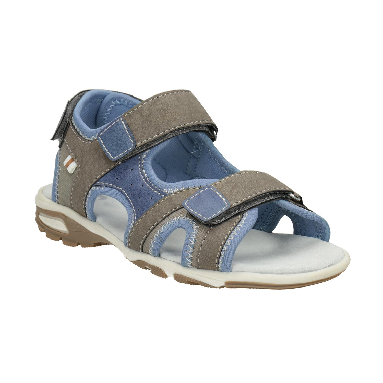 Chlapecké sandály na suchý zip šedo-modré