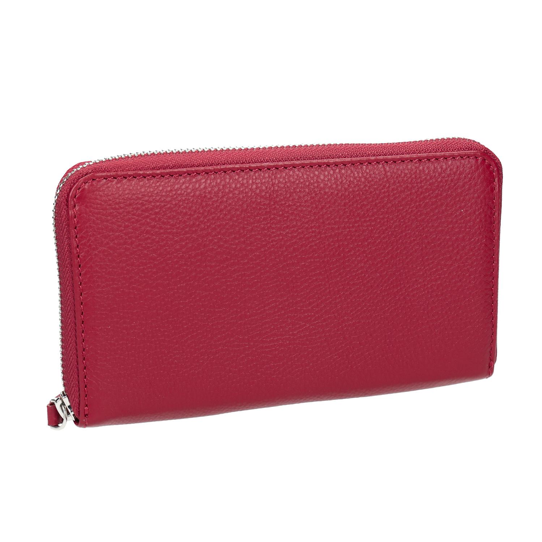 Červená kožená peňaženka