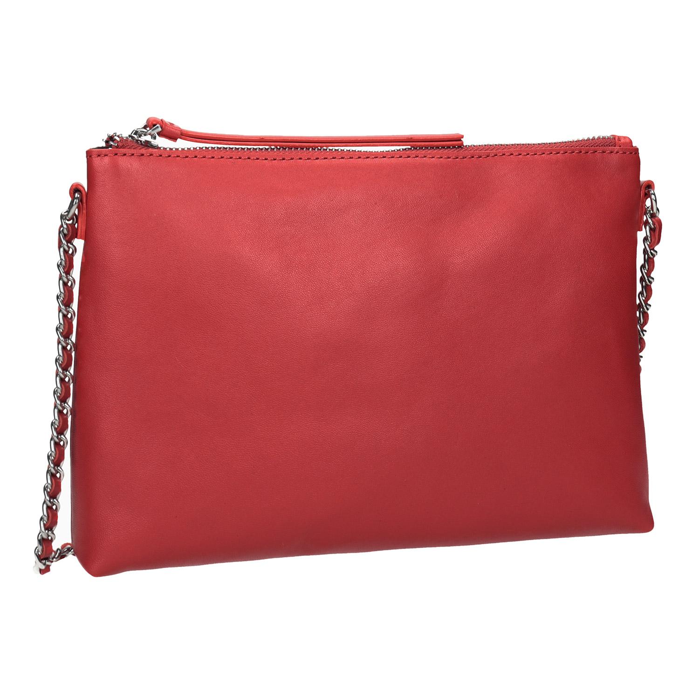 Červená Crossbody kabelka s řetízkem