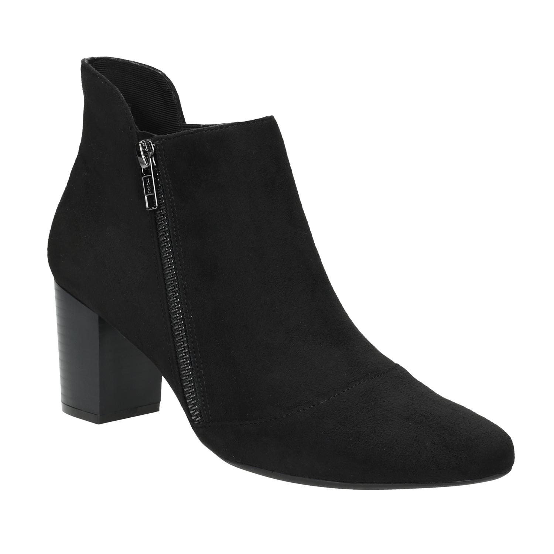 2f857cf7e82 Cerne damske kotnickove boty na podpatku