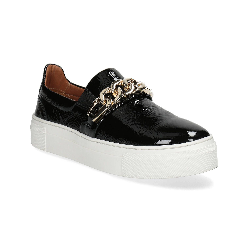 Kožená Slip-on obuv na flatformě