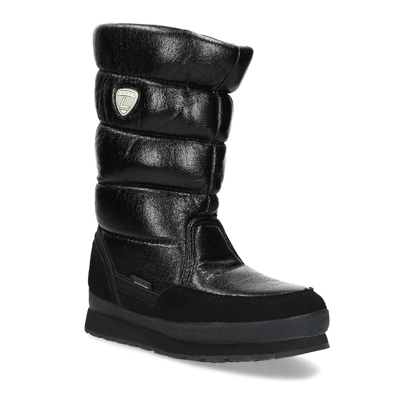 Dámská černá zimní obuv s prošíváním
