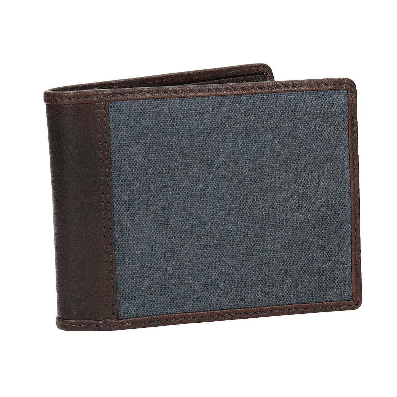 Pánska peňaženka v kombinácii kože a textilu