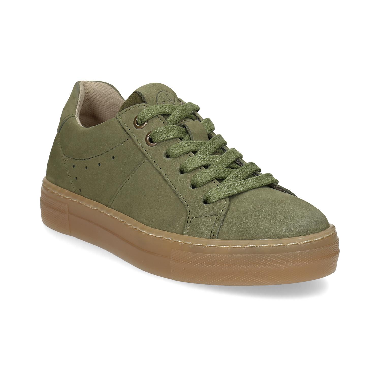 Sleva - Dětské zelené kožené t Dětské zelené kožené tenisky - Bata ... 86b0cba37c