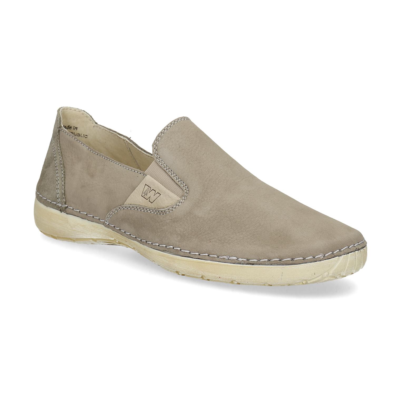 Kožené boty ve stylu Slip-on 1149431604