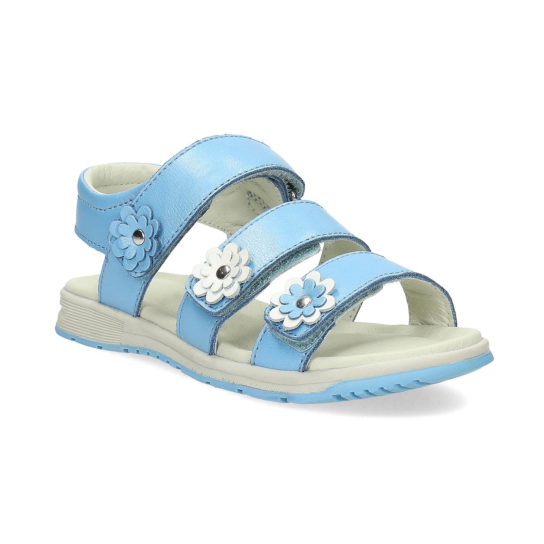 Letní dívčí sandály modré Bata.cz