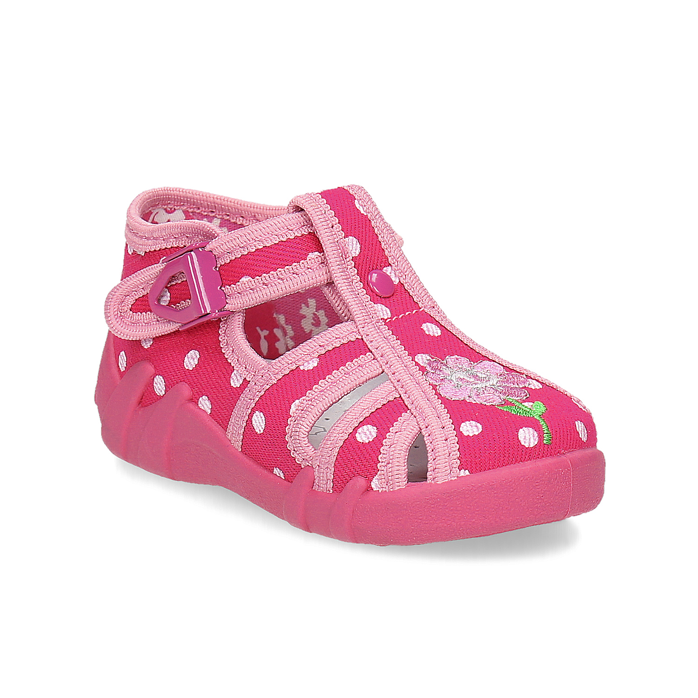Dívčí růžové pantofle