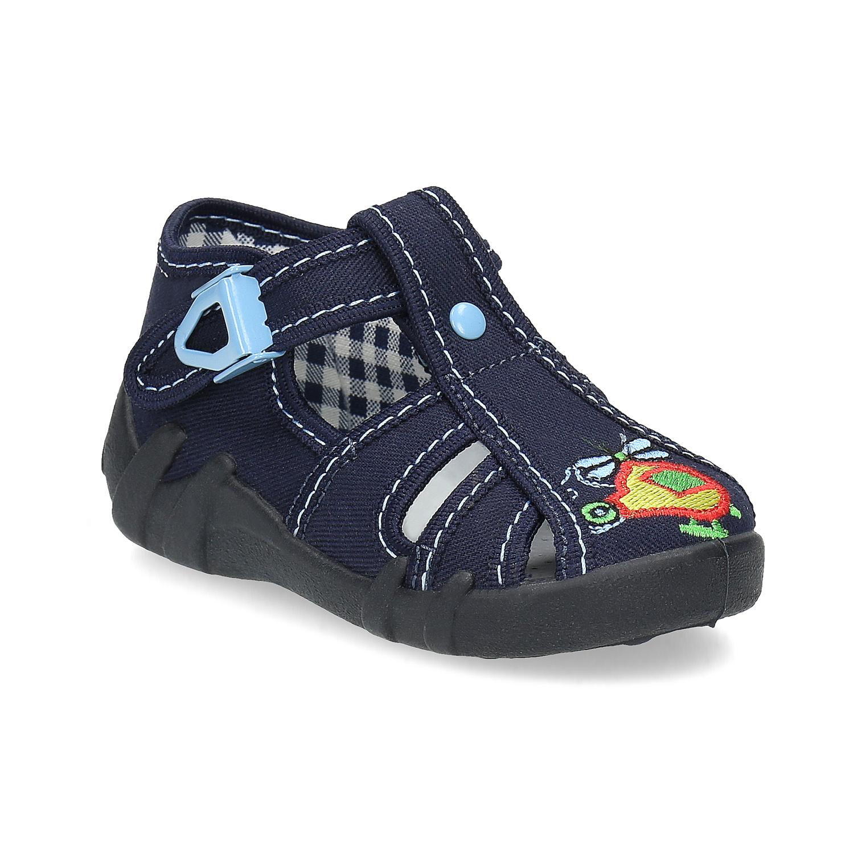 Chlapecká domácí obuv modrá