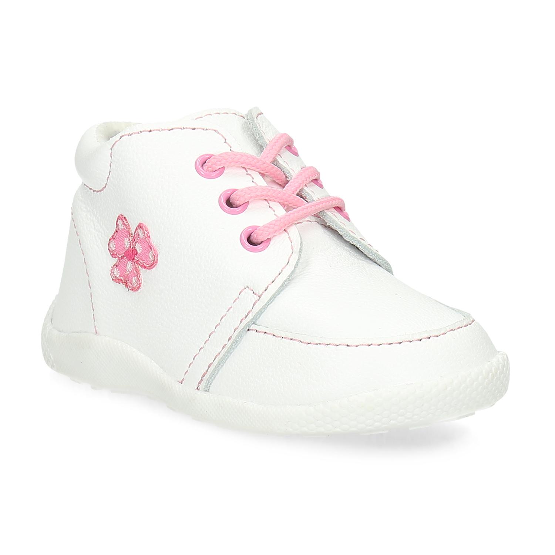 Dětská kožená kotníčková obuv dívčí