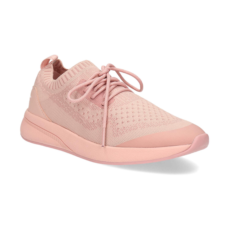 Dámské světle růžové tenisky z úpletu